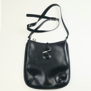 Longchamp Roseau Black Crossbody Bag Purse